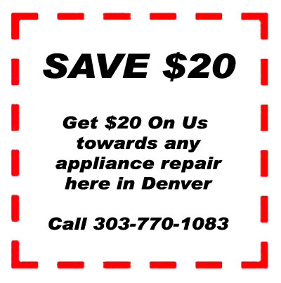 $20 gift coupon for denver appliance repair